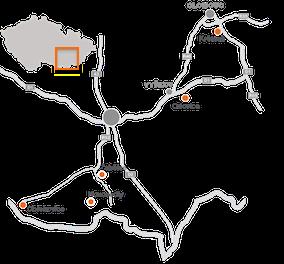 Mapa pískoven ZEPIKO