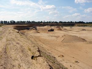 Písek, kamenivo, ukládka inertního odpadu Oblekovice
