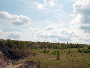 Písek, kamenivo, ukládka inertního odpadu Novosedly